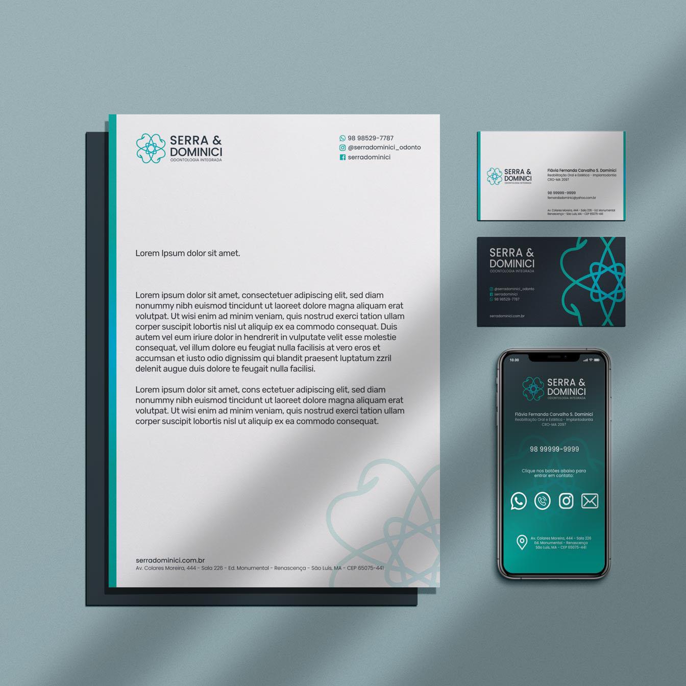identidade visual serra & dominici odontologia integrada