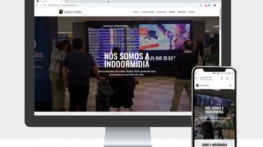 Site Indoormídia e criação de vídeos institucionais