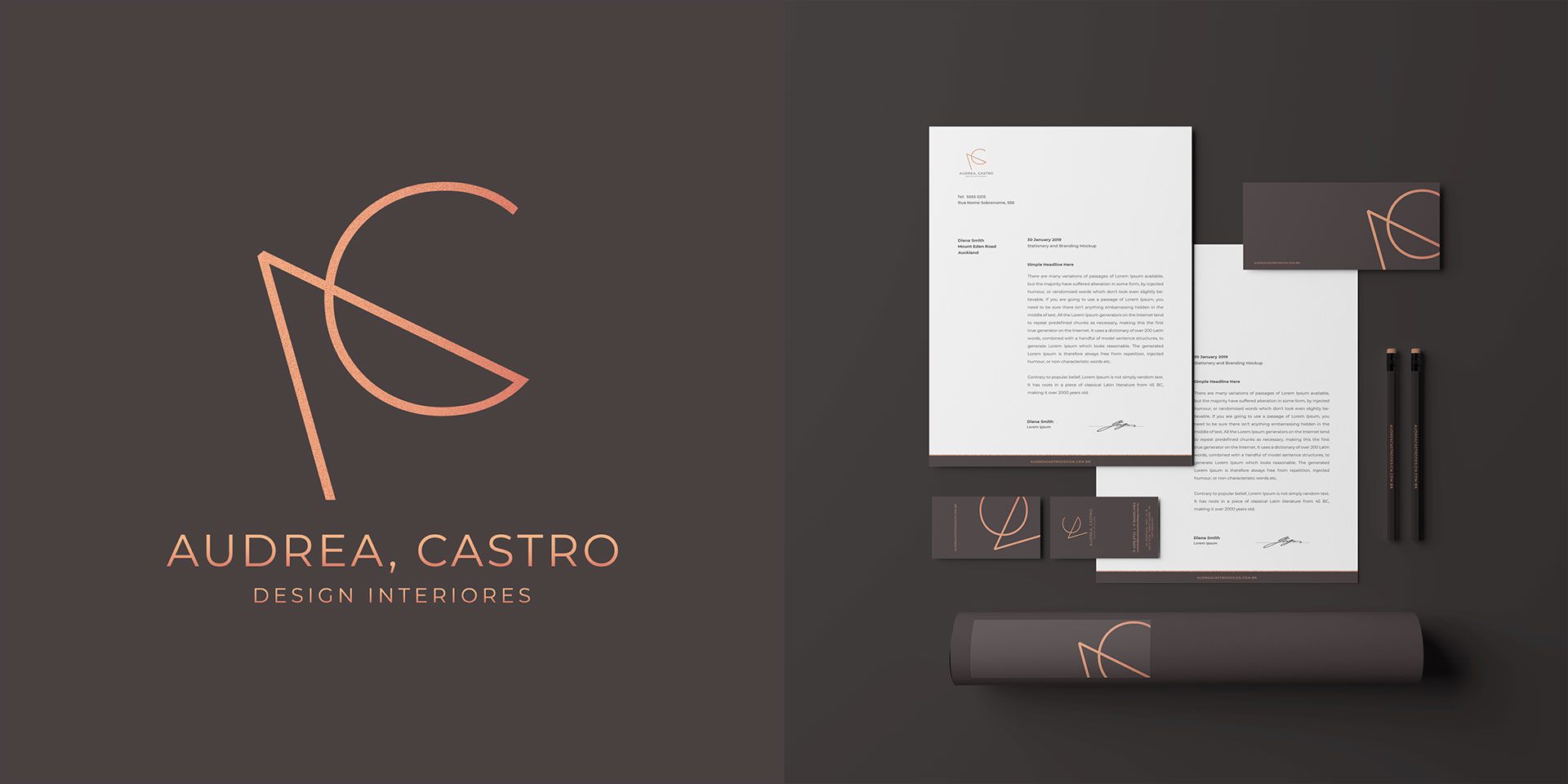 Audrea Castro Design Interiores Branding
