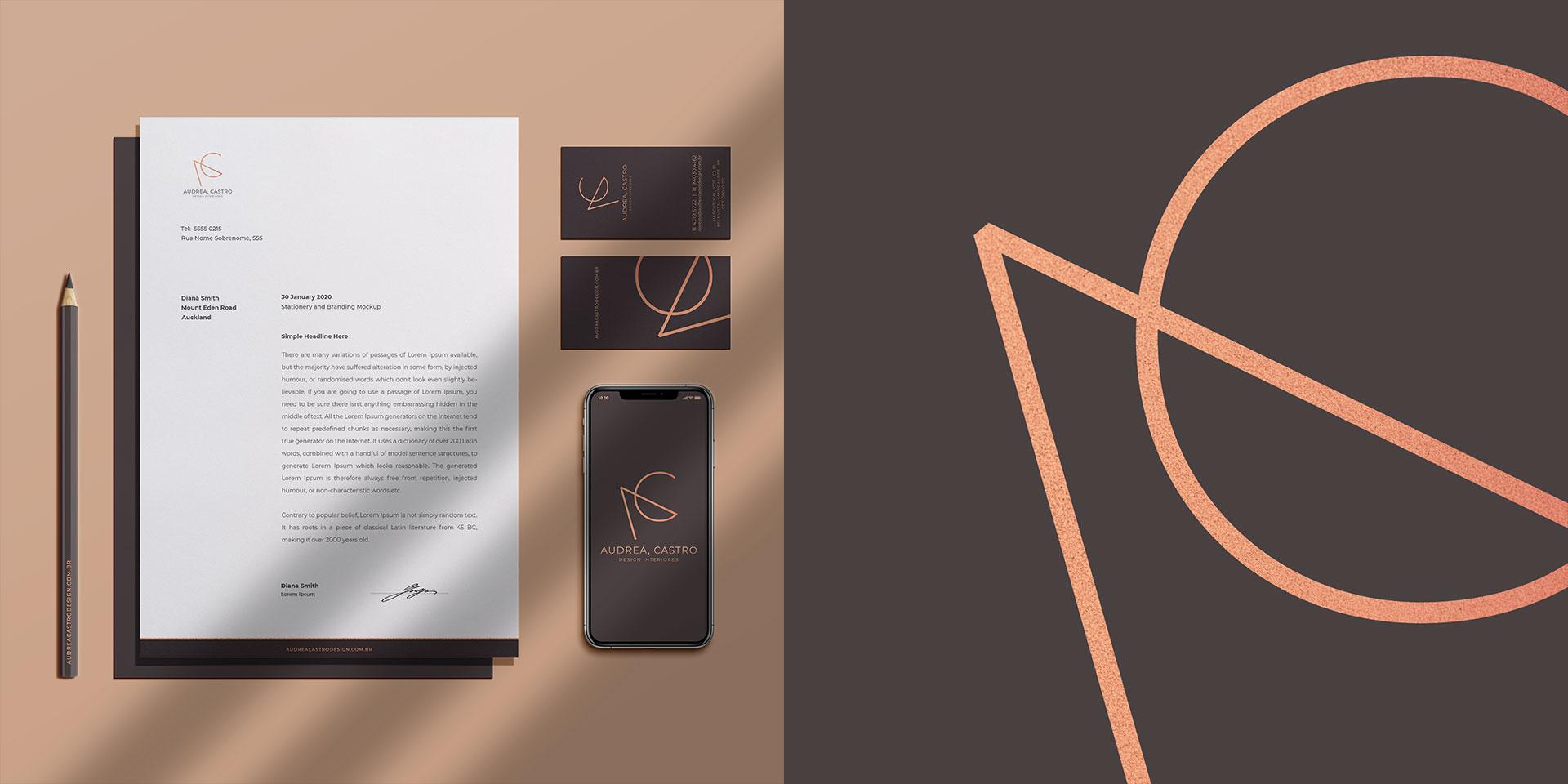 Audrea Castro Design Interiores Branding e Identidade Visual
