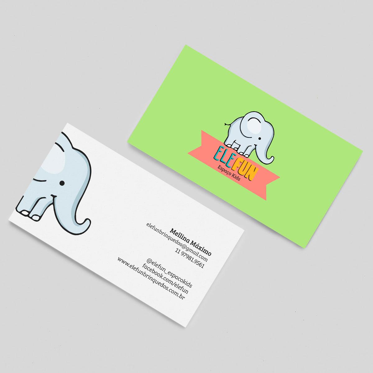 Cartão de visitas Elefun Espaço Kids