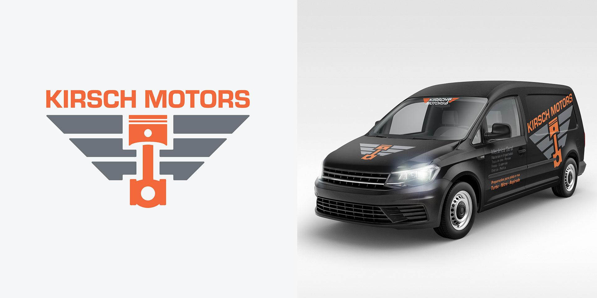 Identidade Visual Logotipo Kirsch Motors